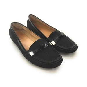 COACH Frida Black Canvas Signature C Loafers 8B